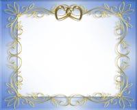 Marco de la boda o de la tarjeta del día de San Valentín Imagenes de archivo