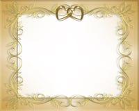 Marco de la boda o de la tarjeta del día de San Valentín   Fotografía de archivo