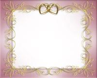 Marco de la boda o de la tarjeta del día de San Valentín   Foto de archivo libre de regalías
