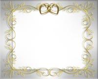 Marco de la boda o de la tarjeta del día de San Valentín   Foto de archivo