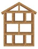 Marco de la casa de madera Imagen de archivo libre de regalías