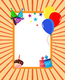 Marco de la celebración de la fiesta de cumpleaños Imágenes de archivo libres de regalías