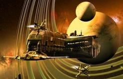 Marco de la ciencia ficción Imagen de archivo libre de regalías
