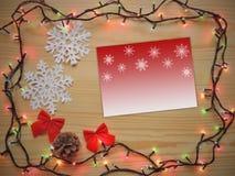 Marco de la composición de la decoración de la Navidad Fotos de archivo libres de regalías