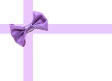 Marco de la corbata de lazo Fotografía de archivo libre de regalías