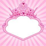 Marco de la corona de la princesa Imagen de archivo