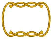 Marco de la cuerda aislado en blanco Imagen de archivo