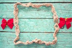 Marco de la cuerda con los arcos Foto de archivo libre de regalías