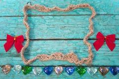 Marco de la cuerda con los arcos Imagen de archivo libre de regalías