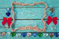 Marco de la cuerda con los arcos Imágenes de archivo libres de regalías