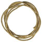 Marco de la cuerda con los nudos Imagenes de archivo