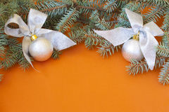 Marco de la decoración de la Navidad imagen de archivo libre de regalías