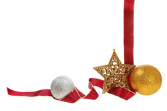 marco de la decoración de la Navidad Imagen de archivo