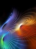 Marco de la demostración de la luz del fractal ilustración del vector