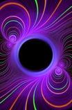 Marco de la demostración de la luz del fractal Imagen de archivo