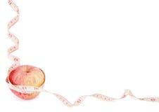 Marco de la dieta de Apple con el copyspace Imagen de archivo