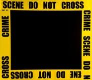 Marco de la escena del crimen Fotografía de archivo libre de regalías