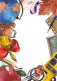 Marco de la escuela stock de ilustración