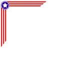 Marco de la esquina de la bandera americana Fotografía de archivo