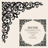 Marco de la esquina ornamental del vector stock de ilustración