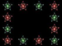 Marco de la estrella de la Navidad del fractal Fotografía de archivo libre de regalías