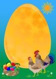 Marco de la etiqueta de Pascua. stock de ilustración
