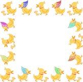 Marco de la familia del pato Imagen de archivo libre de regalías