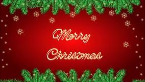 Marco de la Feliz Navidad con un vídeo de la palmatoria ilustración del vector