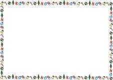 Marco de la Feliz Navidad del paisaje ilustración del vector