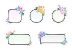 Marco de la flor ilustración del vector