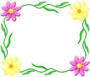Marco de la flor Fotos de archivo libres de regalías