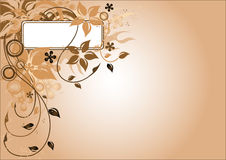 Marco de la flor de Brown ilustración del vector