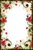 Marco de la flor de Grunge Imágenes de archivo libres de regalías