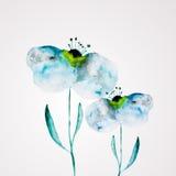 Marco de la flor de la acuarela Fotografía de archivo libre de regalías