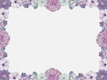 Marco de la flor de la lila, estilo nostálgico ilustración del vector