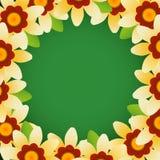 Marco de la flor de Vecto Imagen de archivo libre de regalías