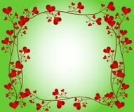 Marco de la flor del amor Fotos de archivo
