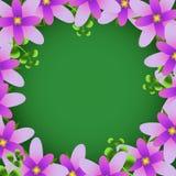 Marco de la flor del vector Foto de archivo libre de regalías