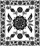 Marco de la flor, vector Imagenes de archivo