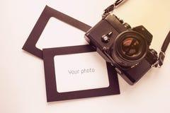 Marco de la foto con la cámara Imágenes de archivo libres de regalías