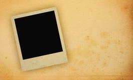 Marco de la foto con el espacio amarilleado de la copia Fotos de archivo