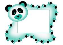 Marco de la foto con la panda Fotografía de archivo