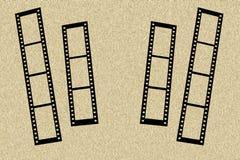Marco de la foto con las tiras de la película Foto de archivo libre de regalías
