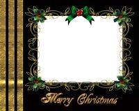 Marco de la foto de la frontera de la Navidad elegante Imagenes de archivo