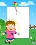 Marco de la foto de la muchacha que salta Fotografía de archivo libre de regalías