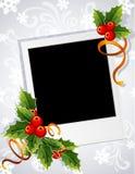 Marco de la foto de la Navidad Fotografía de archivo libre de regalías