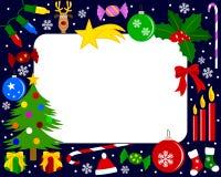 Marco de la foto de la Navidad [3] Imagen de archivo libre de regalías