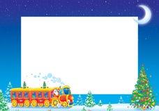 Marco de la foto de la Navidad Imagenes de archivo