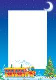 Marco de la foto de la Navidad ilustración del vector