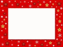 Marco de la foto de la Navidad Imagen de archivo
